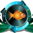 Fish button — Stock Photo