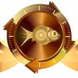 Gold fish banners — Stock Photo