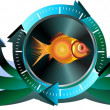 Fish banners — Stock Photo