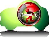 24 часа обслуживания автомобиля — Cтоковый вектор