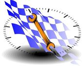 24-uurs onderhoud auto — Stockvector