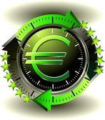 Button Euro — Stock Vector