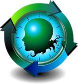 Monitorización de las tecnologías médicas — Vector de stock