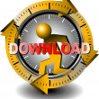 Button download - Zdjęcie stockowe