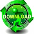 düğme download — Stok Vektör