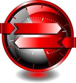 Advertising button — Stock Vector