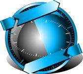 Button tech support — Stock Vector