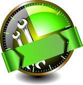 Service maintenance of machinery — Stock Vector