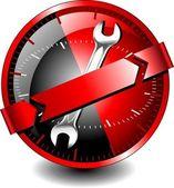 Mobiler technischer support — Stockvektor