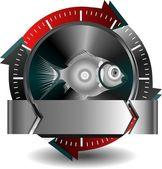Przycisk ryb — Wektor stockowy