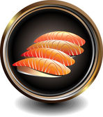 Negocio de sushi — Vector de stock
