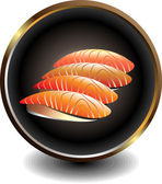 Negocio de sushi — Vector de stock