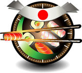 Sushi business — Stock Vector