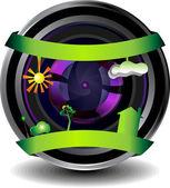 Digital webcam icon — Vector de stock