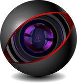 Digitální kamery ikony — Stock vektor