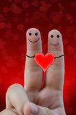 Dita felice in amore — Foto Stock