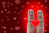 Glada fingrar i kärlek — Stockfoto
