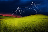 Thunderstorm with lightning — Stock fotografie