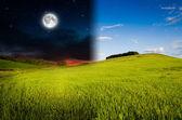 白天和黑夜 — 图库照片