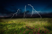 Thunderstorm with lightning — Photo