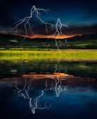 Storm with lightning — Stock fotografie