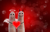 Счастливая влюбленная пара — Стоковое фото