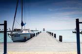 Balaton lake pier — Stock Photo