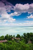 Balaton lake from Tihany abbey — Stock Photo