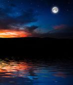Cielo notturno — Foto Stock