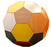 Dřevěné koule — Stock fotografie