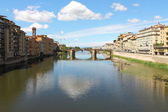 Bridge Santa Trinita ,Florence , Italy — Stock Photo