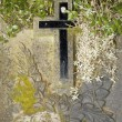 Stock Photo: Old cross in a cemetery