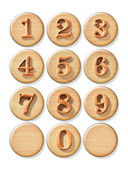 Numeric button — Stock Photo