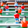 Stock Photo: Old vintage table football game