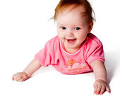 Adorable little baby girl — Stock Photo