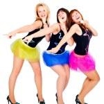 Three pretty girls singing — Stock Photo #12865403