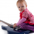 Royalty-Free Stock Photo: Little girl playing with guitar