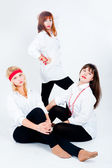 Three pretty girls — Stock Photo