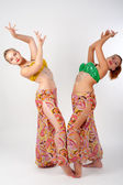 Two belly dancers — Stock Photo