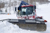 Frozen snowplow — Stock Photo