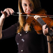 Girl with violin — Lizenzfreies Foto
