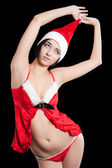 Beautiful and sexy christmas woman — Stock Photo