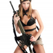 Attractive Woman with rifle — ストック写真