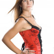 Stock Photo: Young woman in corset
