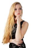 Ritratto di una bella ragazza bionda — Foto Stock