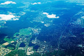 Aerial view of town — Stock Photo
