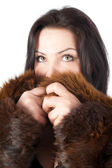 Beautiful girl in warm coat — Stock Photo