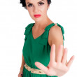 Stock Photo: Girl with stop gesture