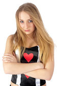 Pretty queen of Heart — Stock Photo