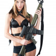 Sexy woman with weapon — Stock Photo #18153641